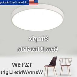 Modern Round Acrylic LED Ceiling Light Home Bedroom Mount Fi