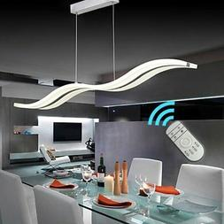 Create For Life Modern Wave LED Pendant Light Dimmable Fixtu
