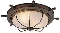 Nautical Indoor Antique Red Copper 5 in. Outdoor Ceiling Lig