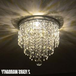 New Elegant Chandelier Crystal Light Ceiling Flush Mount Lam