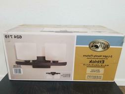 *NIB* Hampton Bay Ettrick 2 Light Vanity Fixture Bronze Fini
