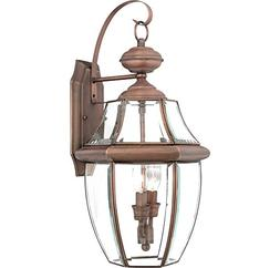 Quoizel NY8317AC Newbury 2-Light Outdoor Wall Fixture, Aged