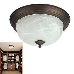 Oil Rubbed Bronze Flush Mount Ceiling Light Fixture Globe 13