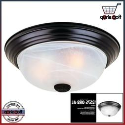 "Oil Rubbed Bronze Flush Mount Ceiling Light Fixture 15"" Alab"