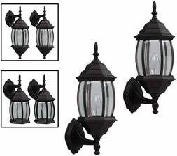 Outdoor Exterior Wall Lantern Light Fixture Twin Pack, Oil R