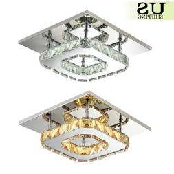 Pendant Ceiling Lamp Crystal Fixture LED Light Chandelier Fl