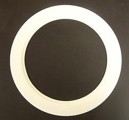 """Plastic White Light Trim Ring Recessed Can 6"""" Inch Oversized"""