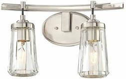 Minka Lavery 2302-84 Poleis 2-Light Bath Vanity in Brushed N