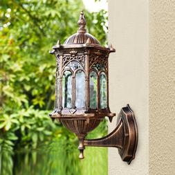Retro Exterior Wall Light Fixture Aluminum Lantern Outdoor G