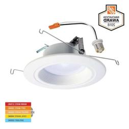 "Halo 5 in. 6""  White LED Recessed Ceiling Dimmable Light Tri"