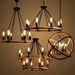 Rope Chandelier Pendant Light Restoration Hardwire Lighting