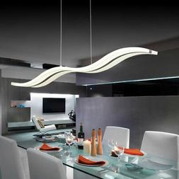 S Modern Waterwave LED Pendant Light Ceiling Lamp Fixture Ac