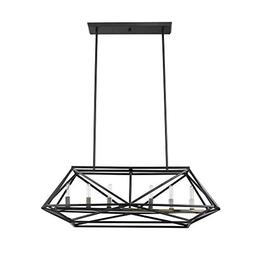 Globe Electric Sansa 6-Light Chandelier, Dark Bronze, Brass