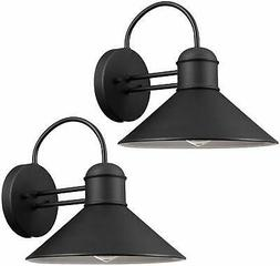Globe Electric 44165 Sebastien Outdoor Wall Sconce, Black Fi