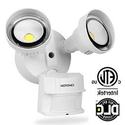 CINOTON LED Security Lights 20W,Infrared Motion Sensor Outdo