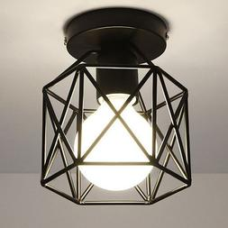WOERFU Semi-Flush Mount Ceiling Lights Metal Retro Industria