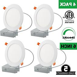 6 Inch Slim LED Downlight, Dimmable, 12W , 5000K Daylight Wh