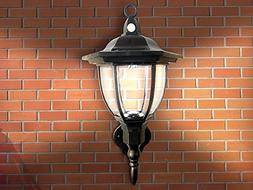 Solar Powered Wall Lamp- Motion Activated Security Lights- W