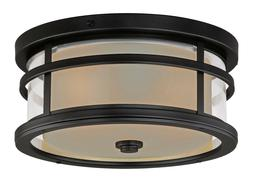 Vaxcel T0090 Cadiz 12-Inch Outdoor Flush Mount, Oil Rubbed B
