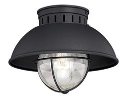 """Vaxcel T0142 Harwich Outdoor Flush Mount, 10"""", Textured Blac"""