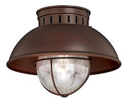 """Vaxcel T0143 Harwich Outdoor Flush Mount, 10"""", Burnished Bro"""