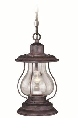 """Vaxcel T0219 Dockside Outdoor Pendant, 8"""", Weathered Patina"""