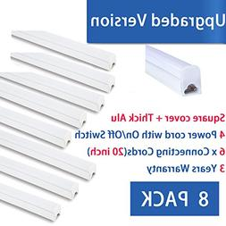 LED T5 Integrated Single Fixture 4FT,20W,2200lm,6500K ,Util