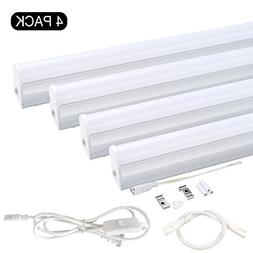 T5 Integrated LED Tube Light Fixture, 4-Pack of 4ft Ceiling