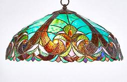 Diamond Life Tiffany Style Stained Glass Hanging Lamp Ceilin