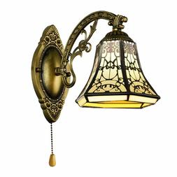 BAYCHEER Tiffany Style Glass Shade Vintage Wall Sconce Lamp