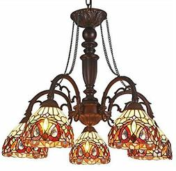 Tiffany Style Light Fixture Dining Stained Glass Ceiling Vic
