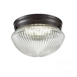 Truelite Industrial Flush Mount Ceiling Light with Glass Sha