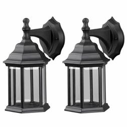 Twin Pack Outdoor Exterior Wall Lantern Light Fixture Sconce