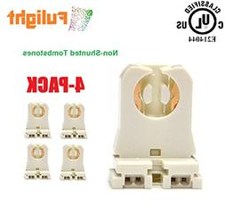 4-Pack of Fulight -UL Listed- Non-Shunted T8 Lamp Holder Soc