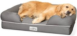 "PetFusion Large Dog Bed w/Solid 4"" Memory Foam, Waterproof l"
