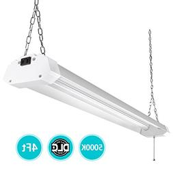 4ft LED Utility Shop Lights for Garage, 40W Bright Plug-in L