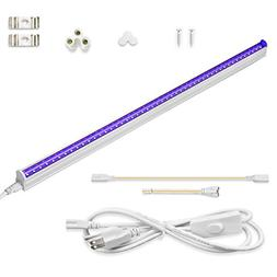 CATIYA UV LED Black Light Fixtures, T5 LED Light Tube 10W, 2
