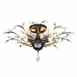 vintage crystal branches chandeliers black ceiling light
