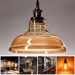 Vintage Pendant Light Glass Hanging Fixture Industrial Ceili