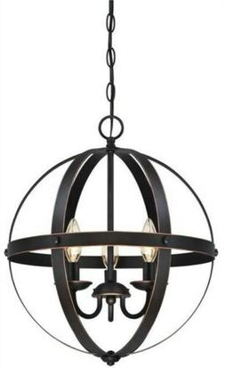 Vintage Retro Three-Light Ceiling Pendant Oil Rubbed Bronze