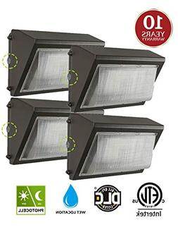 60W LED Wall Pack with Dusk-to-Dawn Photocell, IP65 Waterpr
