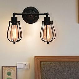 Tangkula Wall Sconce 2 Light Industrial Vintage Style Indoor