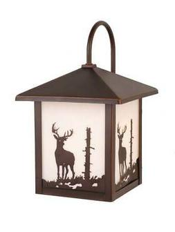Yellowstone Outdoor Burnished Bronze 12.5 in. Outdoor Wall L