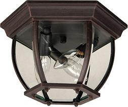 Craftmade Z433-07 Outdoor Flush Mount Light with Beveled Gla